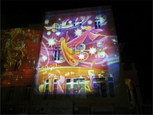 Fényfestés a Bethesda épületén 5