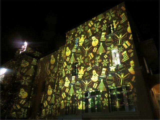 Fényfestés a Bethesda épületén 6