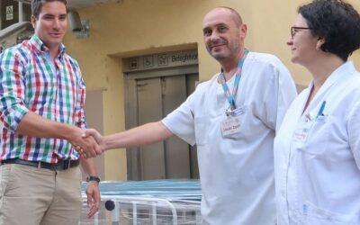 Új betegszállító kocsit kapott a kórház