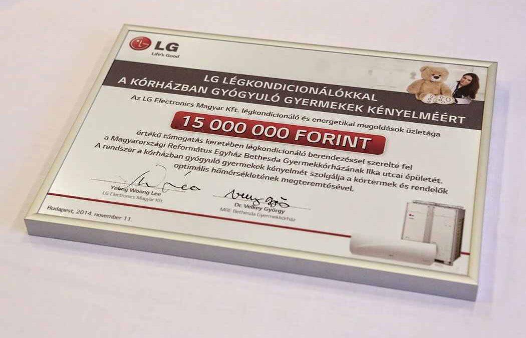 LG adomány