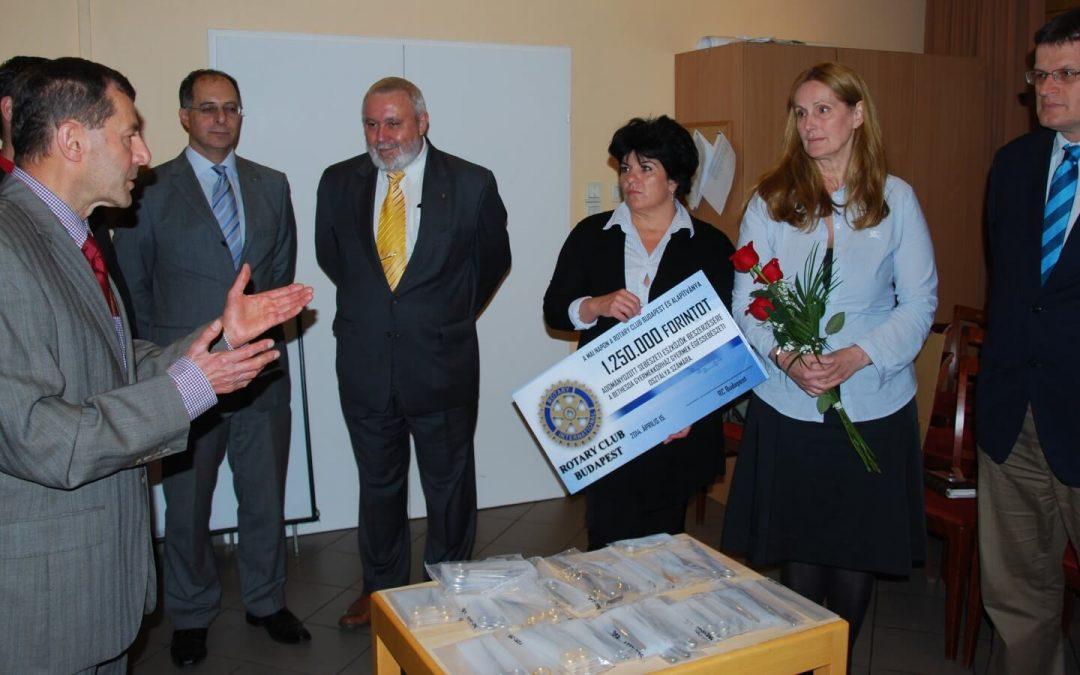 Rotary Club Budapest adománya a Bethesdának