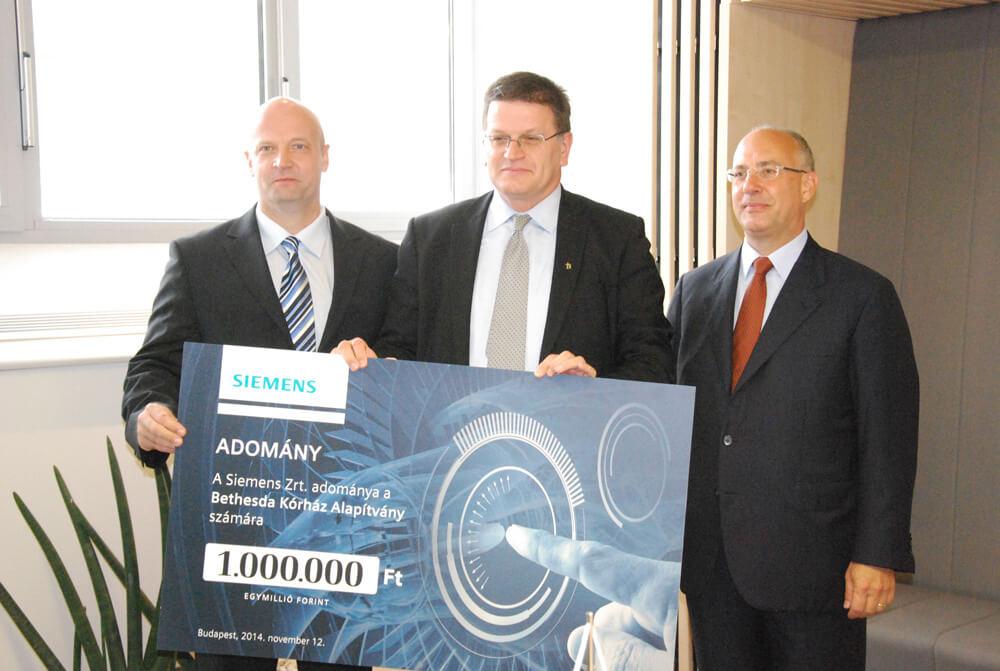 Siemens adomány