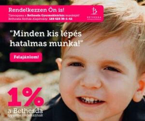 Adó 1 % a Bethesda Kórház Alapítványnak