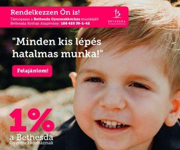 Adó 1 % a Bethesda Kórház Alapítványnek
